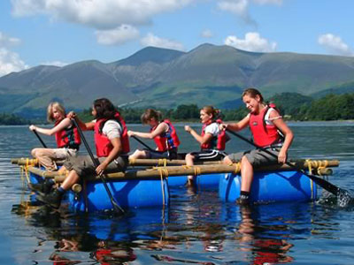 raft-building-team-building
